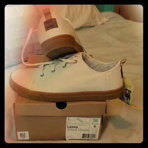 Tom's Lenny White Denim Shoes